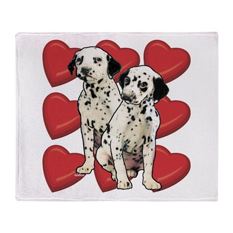 Dalmatian Puppy Love Throw Blanket