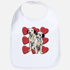 Dalmatian Puppy Love Bib