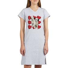 Dalmatian Puppy Love Women's Nightshirt
