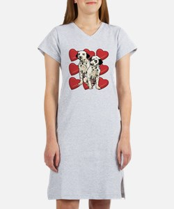 Dalmatian Puppy Love Women's Nightshirt