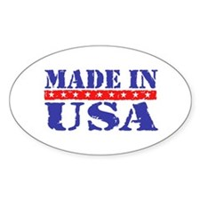 Made in USA Oval Decal