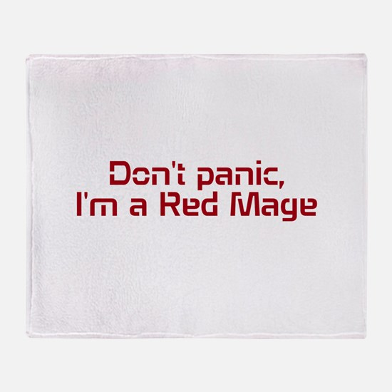 Red Mage Throw Blanket