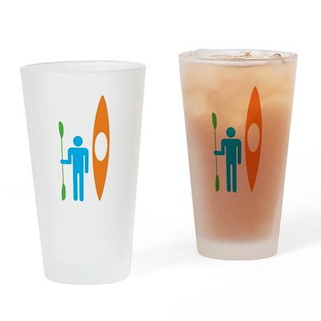 American Kayak Drinking Glass