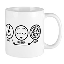 Eat Sleep Edit Mug