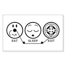 Eat Sleep Edit Decal