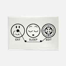 Eat Sleep Edit Rectangle Magnet