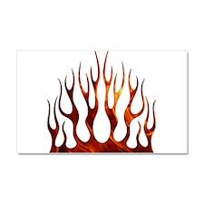 Tribal Flames Fire Car Magnet 20 x 12