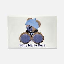Customizable Boy Bear Rectangle Magnet