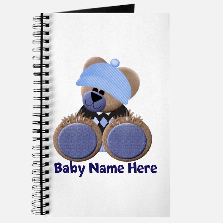 Customizable Boy Bear Journal