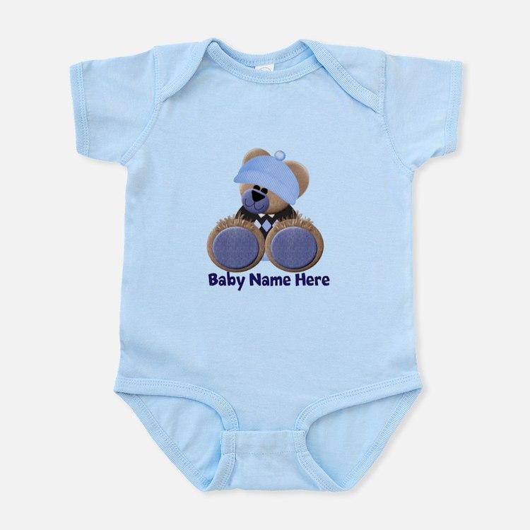 Customizable Boy Bear Infant Bodysuit