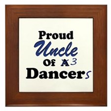 Uncle of 3 Dancers Framed Tile