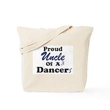 Uncle of 3 Dancers Tote Bag