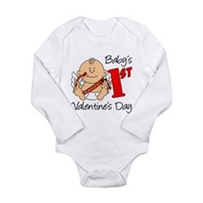 Baby's First Valentines Day Long Sleeve Infant Bod