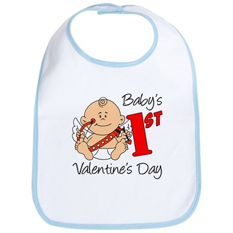 Baby's First Valentines Day Bib