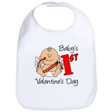 Baby's First Valentines Day Bib