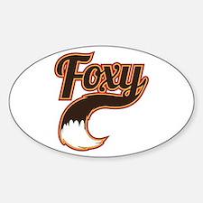 Foxy Sticker (Oval)
