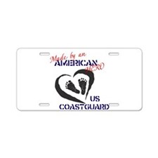 Made by American Hero - Coast Guard Aluminum Licen