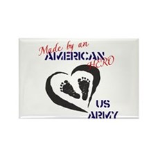 Made by American Hero - Army Rectangle Magnet