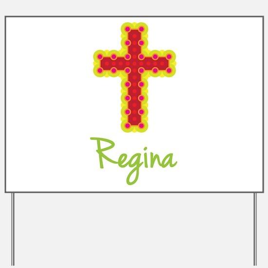Regina Bubble Cross Yard Sign