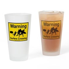 Surfers Crossing Drinking Glass