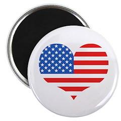 US Flag Heart Magnet