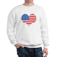 US Flag Heart Sweatshirt