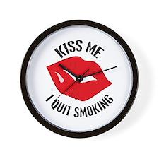 Kiss Me I Quit Smoking Wall Clock