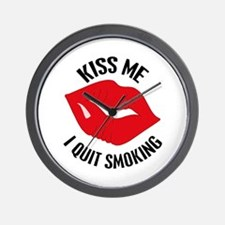 Kiss Me I Quit Smoking Wall Clock