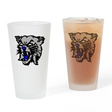 Cat Head Drinking Glass