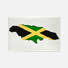 """Pixel Jamaica"" Rectangle Magnet"