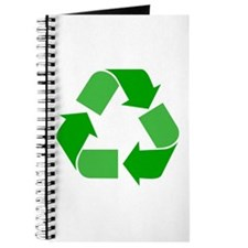 Green Recycle Symbol Journal