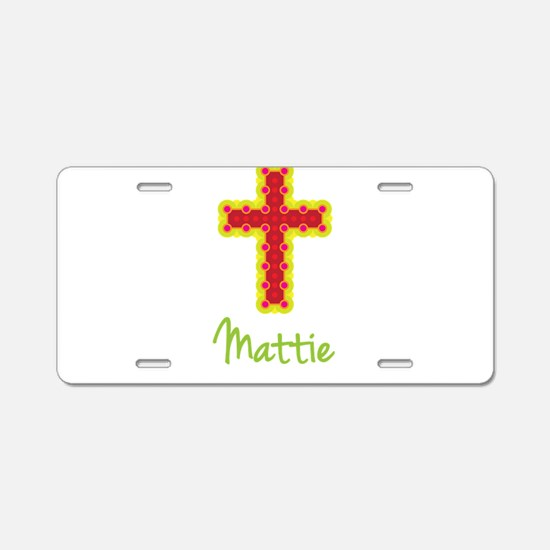 Mattie Bubble Cross Aluminum License Plate