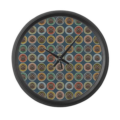 Owl Dots Large Wall Clock