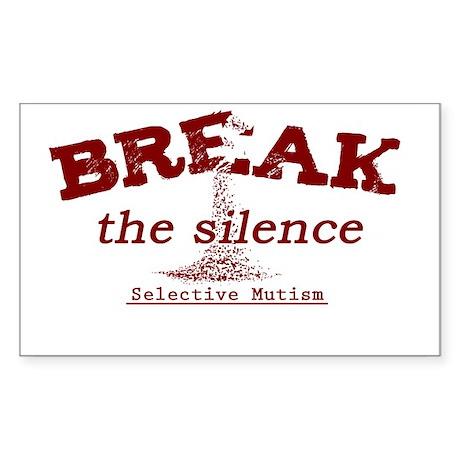 Break the Silence Selective Mutism Sticker (Rectan