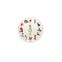 All Around Alice Mini Button