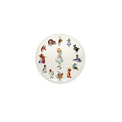 All Around Alice Mini Button (100 pack)