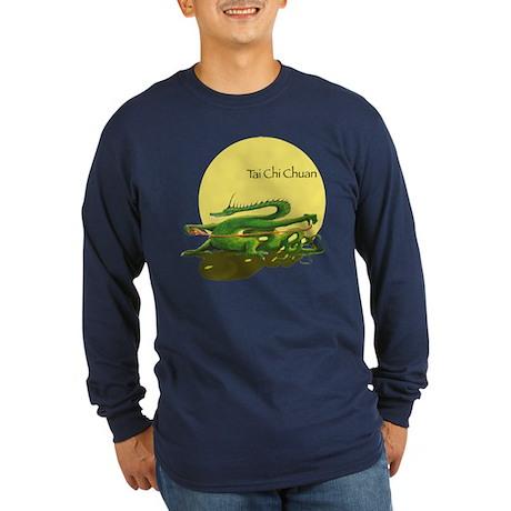 Long Sleeve Dark T-Shirt/ Tai Chi design