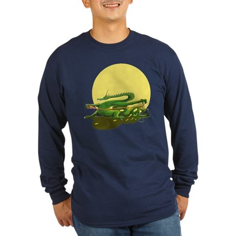Long Sleeve Dark T-Shirt / Tai Chi design