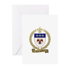 LALIBERTE Family Crest Greeting Cards (Pk of 10)