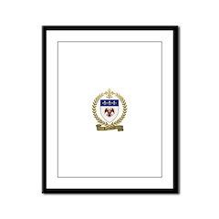 LALIBERTE Family Crest Framed Panel Print