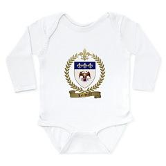 LALIBERTE Family Crest Long Sleeve Infant Bodysuit