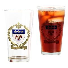 LALIBERTE Family Crest Drinking Glass