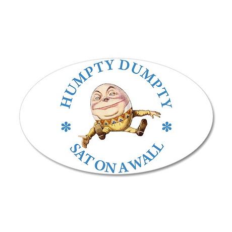 Humpty Dumpty 38.5 x 24.5 Oval Wall Peel
