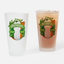 Brennan Shield Drinking Glass