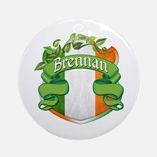 Brennan Shield Ornament (Round)