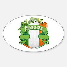 Brennan Shield Sticker (Oval)