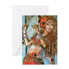 Cool Belly dancing Greeting Card