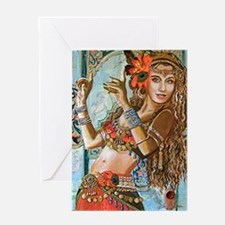 Unique Belly dancer Greeting Card
