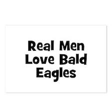 Real Men Love Bald Eagles Postcards (Package of 8)