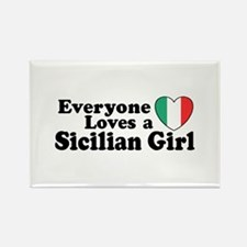 Everyone Loves a Sicilian Girl Rectangle Magnet